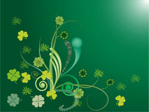 Shamrock and Swirl Stock Image