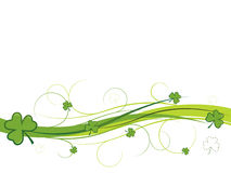 Shamrock and swirls banner Stock Photos