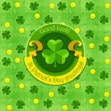 Shamrock symbol dla świątobliwego patricks dnia z faborkiem Zdjęcia Royalty Free