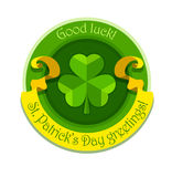Shamrock symbol for saint patricks day with ribbon Stock Photo
