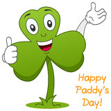 Shamrock Thumbs Up Character. A funny green shamrock (traditional St. Patricks or Saint Patrick s Day symbol) character with thumbs up. Eps file available Royalty Free Stock Photography
