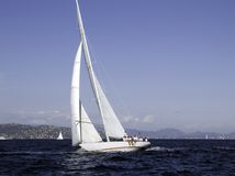 Shamrock V. Modern sailing yacht Shamock V a 36 meter 1930 build J lass by Camper & Nicholsons Stock Photography
