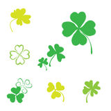 Shamrock Vector Icon For St. Patrick Day Royalty Free Stock Image