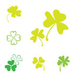 Shamrock Vector Icon For St. Patrick Day Royalty Free Stock Images
