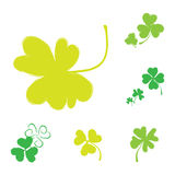 Shamrock Vector Icon For St. Patrick Day Stock Photos