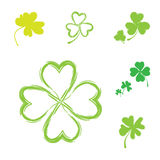 Shamrock Vector Icon For St. Patrick Day Stock Photography