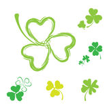 Shamrock Vector Icon For St. Patrick Day Royalty Free Stock Photos
