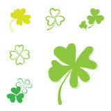 Shamrock Vector Icon For St. Patrick Day Royalty Free Stock Photography