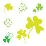 Shamrock Vector Icon For St. Patrick Day Royalty Free Stock Photo