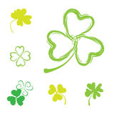 Shamrock Vector Icon For St. Patrick Day Stock Images