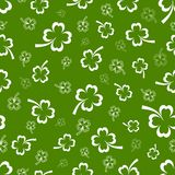 Shamrock vector seamless pattern Stock Photography
