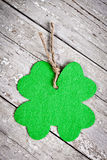Shamrock on vintage table Royalty Free Stock Photography