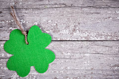Shamrock on vintage table Stock Photography
