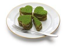 Shamrock zieleni tort Zdjęcie Stock