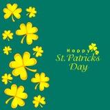 Shamrockblatt für glücklichen St Patrick Tag Lizenzfreies Stockbild