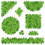 Shamrockdekorationen Stockfoto