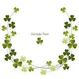 Shamrockdekorationsgrenze Stockbild
