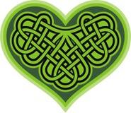 Shamrockhjärta. Celtic symbol Royaltyfri Fotografi