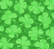 Shamrocks  on a Background of Green Swirls Royalty Free Stock Photo