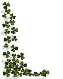 Shamrocks border St Patrick's day. 3D Illustration for St Patrick's Day Card, background, border or frame Stock Images