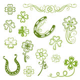 Shamrocks, clover, sylvester Stock Images