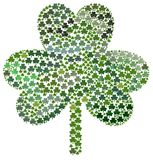 Shamrocks do dia de Patrick de Saint Imagem de Stock