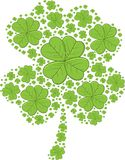 Trevos do dia de St Patrick - ilustração do vetor Fotos de Stock Royalty Free
