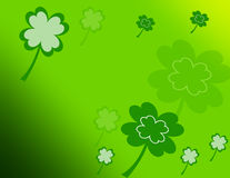 Shamrocks floating Stock Image