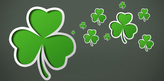 Shamrocks on grey backround design Royalty Free Stock Photo