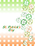 Shamrocks leaf with gradient background Royalty Free Stock Photography