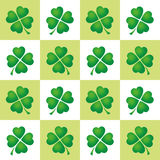 Shamrocks Tiles Pattern Background Royalty Free Stock Images