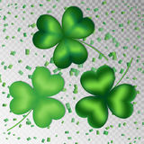 Shamrocks on a transparent background Royalty Free Stock Photography