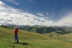 Shan di Tjan delle montagne fotografie stock