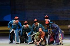 Shan för kriminalareZhu Er-Shanxi Operaticâ €œFu till Beijing† Fotografering för Bildbyråer