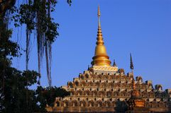 Shan Style Buddhist Temple in Mae Sot, Thailand Royalty Free Stock Photo
