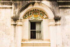 Shan style temple old windows in Wat Papoa , Chiangmai Thailand Royalty Free Stock Photography
