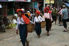 Shan women Royalty Free Stock Photos