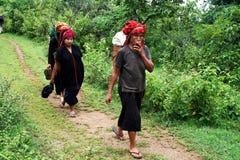 Shan women royalty free stock image