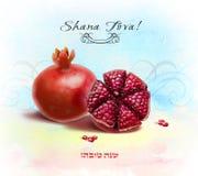 Shana托娃!在希伯来语的新年快乐 向量例证