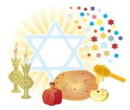 SHANA TOVA. Background for congratulating on the Jewish holiday on of Rosh-hashanah Stock Photo