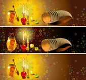 Shana tova banners set Royalty Free Stock Photography