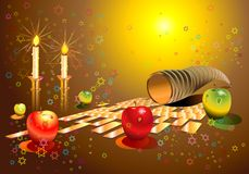 Shana tova banners set Royalty Free Stock Photos