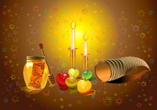 Shana tova banners set Stock Photos