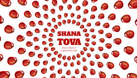 SHANA TOVA - carte de voeux Photographie stock libre de droits