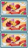 Shana Tova Happy New Year Card. A vector illustration of a traditional Happy Shana Tova card for the Jewish New Year vector illustration
