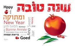 Shana-tova jüdischer Granatapfel Lizenzfreie Stockfotografie