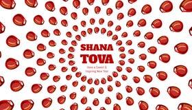 SHANA TOVA - tarjeta de felicitación Fotografía de archivo libre de regalías