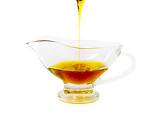 Shana tova vemetuka. Honey is one of symbols of Jewish New Year (Rosh hashana Stock Photography