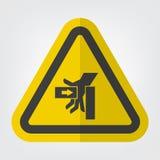 SHand przyduszenia si?a Od Lewego symbolu znaka, Wektorowa ilustracja, Odizolowywa Na Bia?ej t?o etykietce EPS10 royalty ilustracja