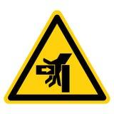 SHand-Zerstampfungs-Kraft vom linken Symbol-Zeichen-Isolat auf weißem Hintergrund, Vektor-Illustration lizenzfreie abbildung
